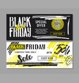 black friday sale advertising vector image