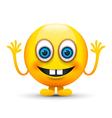 buck teeth emoji character vector image vector image