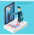 Business Meeting Isometric People vector image