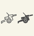 cannon line and glyph icon war vector image
