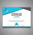 Certificate design vector image vector image