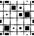 checkered from black and white squares pattern vector image
