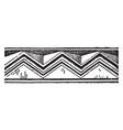 chevron recovery of pottery designs vintage vector image vector image