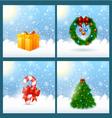 Christmas Greeting Card SET vector image vector image