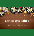 christmas party poster background design template vector image
