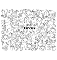 Circus colorless set vector image vector image