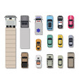 collection of various vehicles top view vector image