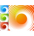 colorful bright spirally background spiral vortex vector image vector image