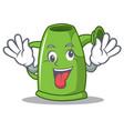 crazy watering can character cartoon vector image vector image