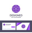 creative business card and logo template pentacle vector image vector image