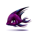 Cute fantasy black fish vector image vector image