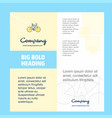 cycle company brochure title page design company vector image vector image