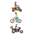 delivery service cartoon vector image
