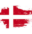 denmark scratched flag vector image vector image