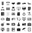 department icons set simple style vector image vector image
