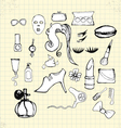 doodle beauty on paper vector image