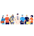 essential workers and frontliners doctor vector image