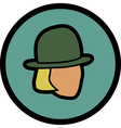 figure in a hat vector image vector image