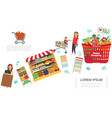 flat shopping colorful concept vector image
