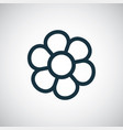 flower icon simple flat element concept design vector image vector image