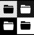 folder icon isolated on black white and vector image vector image
