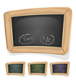 funny blackboard sign for ui game vector image vector image