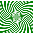green abstract spiral background vector image vector image