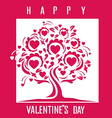 Happy Valentines Day card with tree vector image