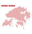 hong kong map - mosaic of valentine hearts vector image vector image