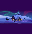 house with christmas decoration at night vector image vector image