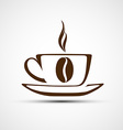 icons to a cup of coffee vector image