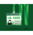 id card woman green vector image vector image