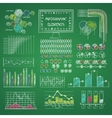 infographic elements library vector image vector image