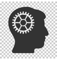 Intellect Cog Icon vector image