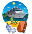 island cruise vector image vector image