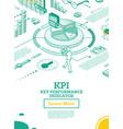 kpi key performance indicator isometric concept vector image