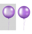 lilac balloons vector image vector image
