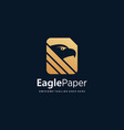 logo eagle paper gold color luxury style vector image