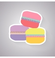 macaroon flat with long shadow vector image