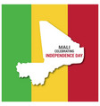 mali celebtraing independence day country map vector image