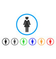 mistress rounded icon vector image vector image