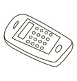 Mobile phone icon outline style vector image vector image