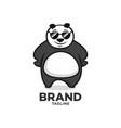 modern character panda with glasses logo vector image
