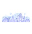 moscow skyline russia city buildings vector image