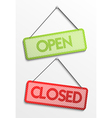 Open and closed sign vector image vector image