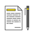 pen and paper with list message icon editable vector image vector image