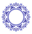porcelain decorative frame vector image