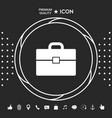 portfolio icon symbol graphic elements for your vector image