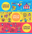 premium quality circus outline icons infographic vector image vector image