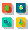 Protection and interaction flat Icons vector image